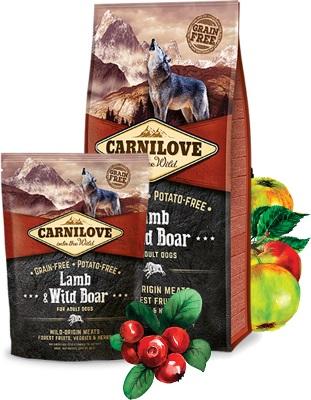 τροφη σκυλων Carnilove Lamb Wild Boar Grain Free ολιστικη τροφη