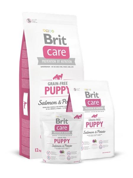 τροφη Brit Care Puppy Grain Free για κουταβια με σολομο