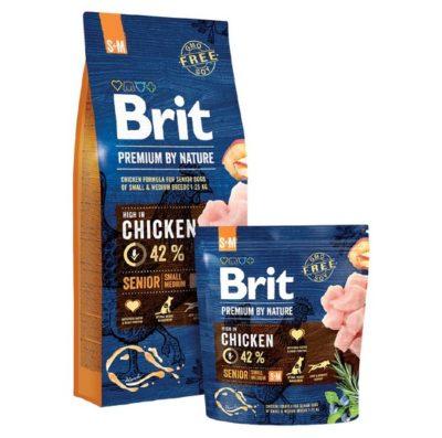ΗBrit Premium Senior S + Μ by Nature τροφη μεγαλης ηλικιας σκυλων μικρης μεσαιας φυλης