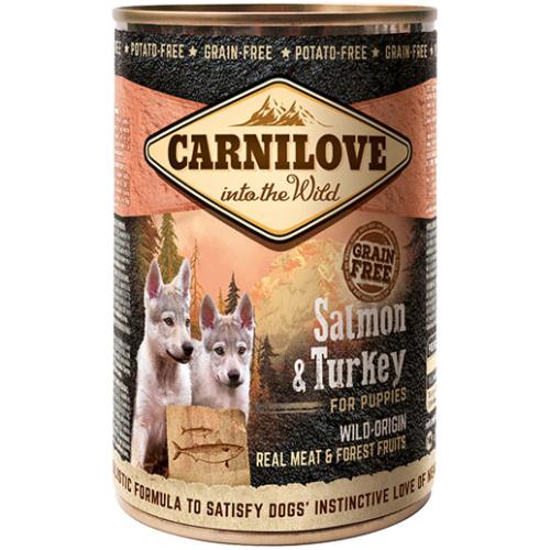κονσερβα σκυλου carnilove grain free salmon