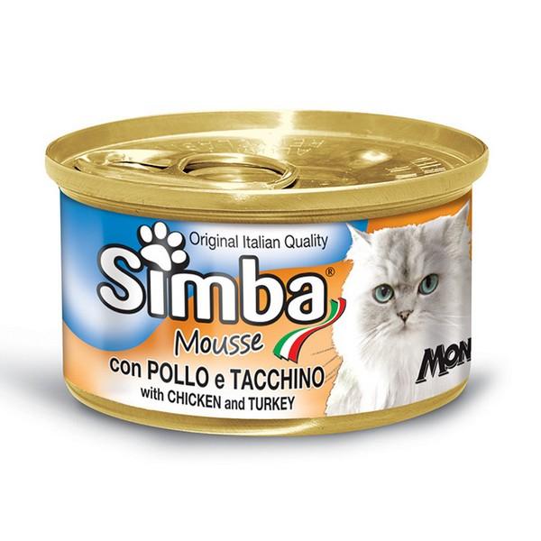 οικονομική κονσερβα για γατες monge simba με κοτοπουλο