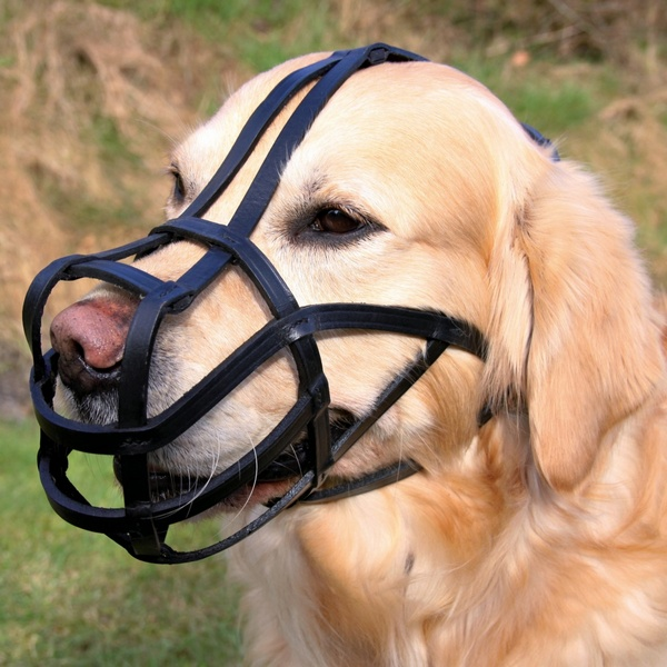 trixie δερματινο φιμωτρο σκυλων