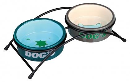 κεραμικα πιατα σκυλων σε βαση Trixie eat on Feet