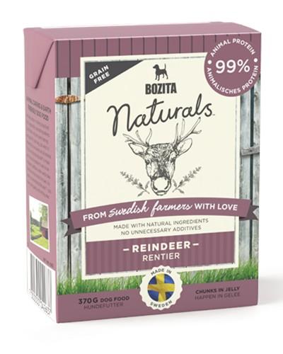 Bozita Naturals reindeer κονσερβα για σκυλο με ταρανδο