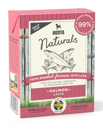 Bozita Naturals Salmon κονσερβα σκυλων με σολομο