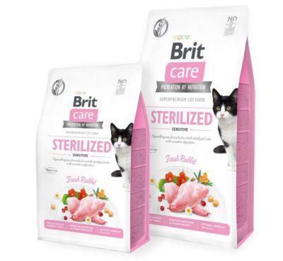 Brit Care Sterilized Sensitive υποαλλεργικη Grain Free τροφη γατας