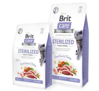 ΗBrit Care Sterilized weight Control superpremium υποαλλεργικη τροφη για γατα μειωση βαρους