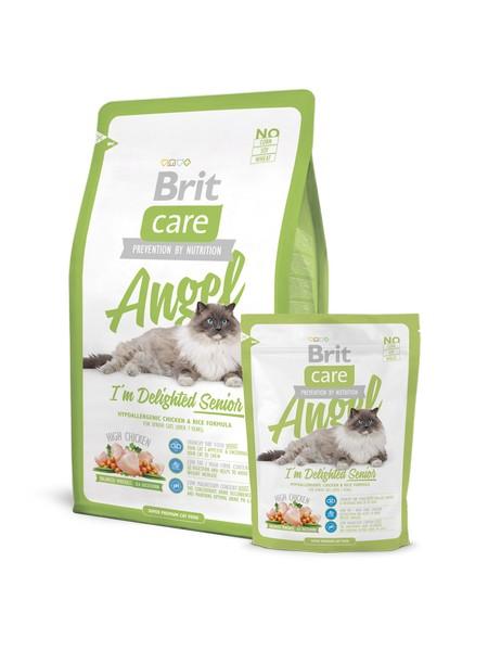 superpremium τροφες γατας Brit Care delighted senior για ηλικιωμενη γατα