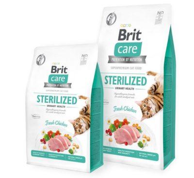 Brit Care Sterilised υποαλλεργικες τροφες για στειρωμενες γατες Urinary Health