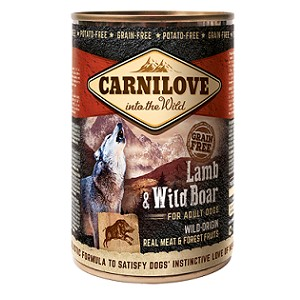 ολιστικη κονσερβα σκυλων Carnilove adult Lamb Wild Boar Grain Free