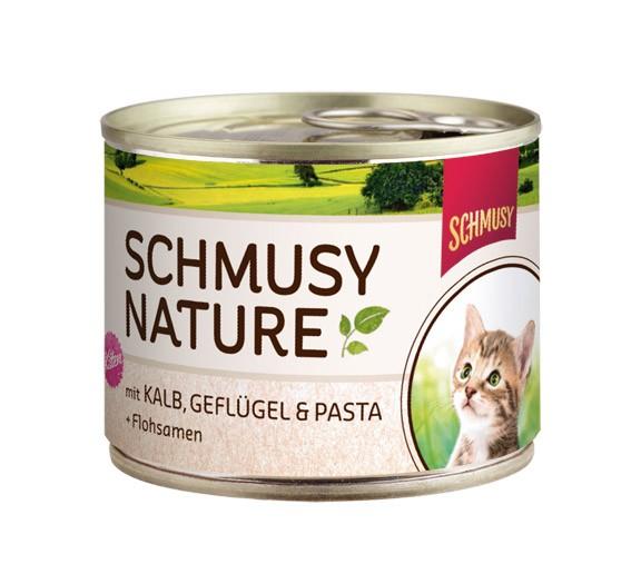 κονσερβα για γατα Schmusy με μοσχαρι πουλερικα και ρυζι