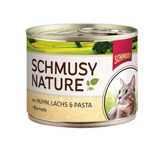 Schmusy κονσερβα για γατα με κοτοπουλο και σολομο