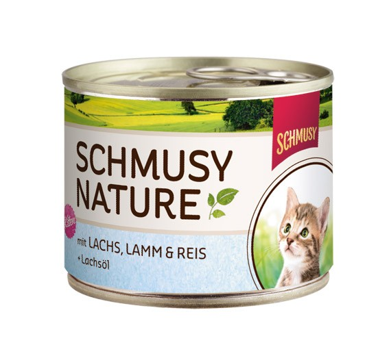 Schmusy κονσερβα για γατακια με αρνι σολομο και ρυζι