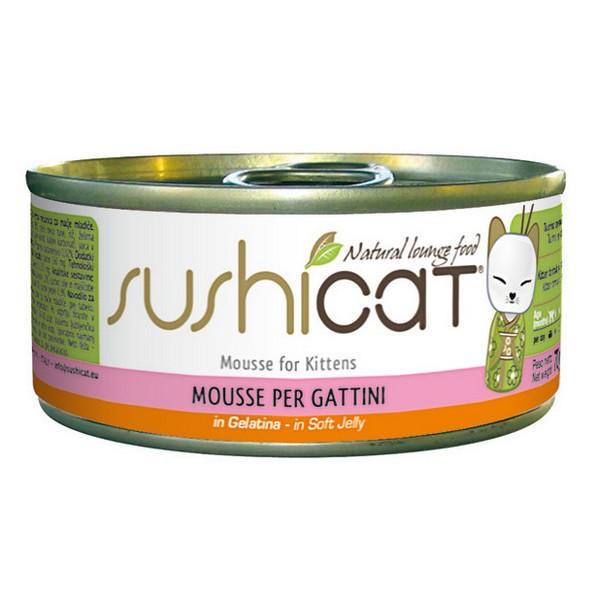 Sushicat κονσερβα για γατακια Mousse σε μαλακό ζελε