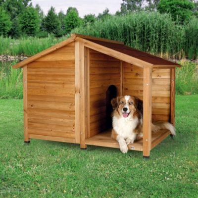 ξυλινο σπιτακι σκυλου Trixie Lodge Natura με βεραντα