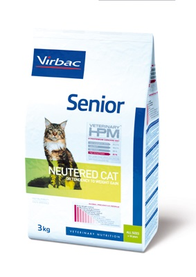 τροφη για ηλικιωμενη στειρωμενη γατα HPM Virbac senior neutered cat