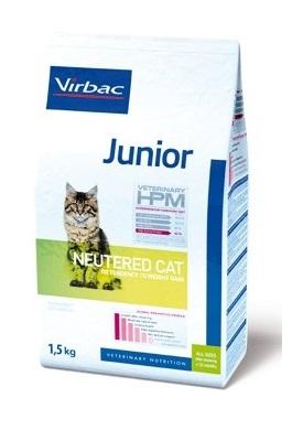 τροφη για στειρωμενη νεαρη γατα HPM Virbac Junior Neutered Cat