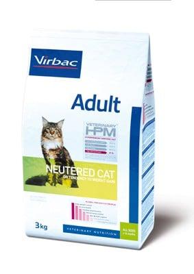 τροφη στειρωμενης ενηλικης γατας HPM Virbac adult neutered cat