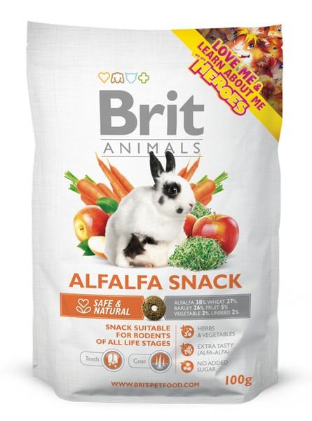 υπεροχα και γευστικα snack Brit Animals για κουνελια και τρωκτικα Alfalfa snack