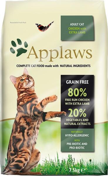 Η τροφη γατας Applaws Chicken with extra lamp grain free με κοτοπουλο και αρνι