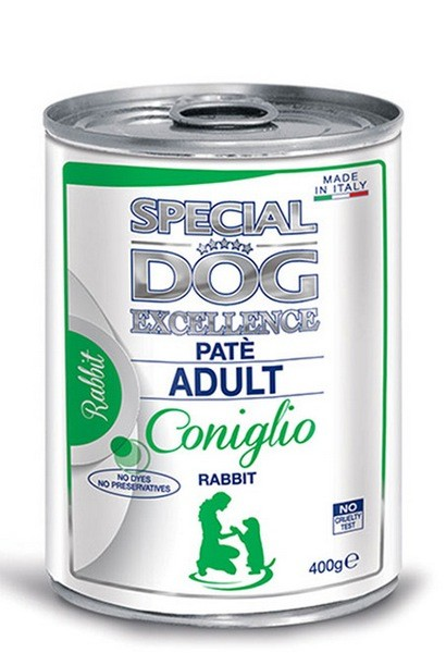 Monge Special Dog Excellence Pate with Rabbit κονσερβα πατε ενηλικων σκυλων με κουνέλι