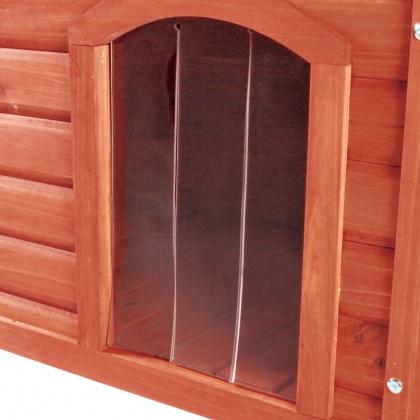 πορτα για ξυλινα σπιτια σκυλων Trixie Classic με επιπεδη οροφη