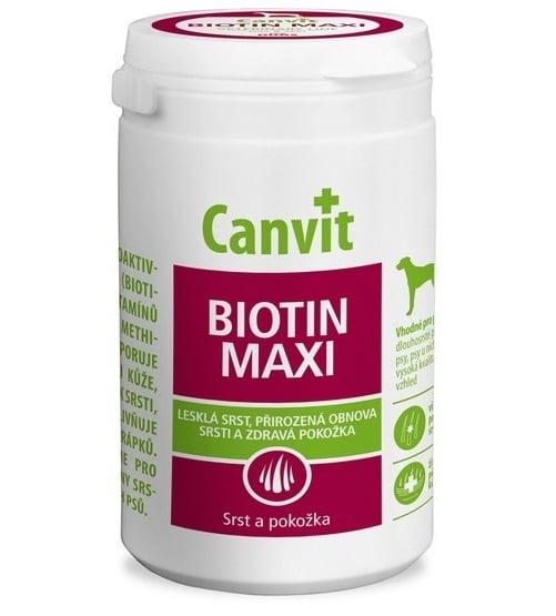 συμπληρωμα διατροφης σκυλου βιταμινες Canvit Biotin για σκυλους με λαμπερο τριχωμα και υγιες δερμα