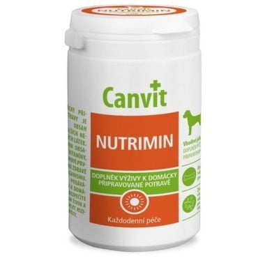 Canvit συμπληρωμα διατροφης Nutrimin για καθημερινη φροντιδα σκυλου με μαγειρεμενο φαγητο