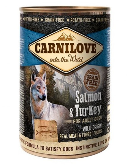 Carnilove κονσερβα σκυλου Salmon Turkey Grain Free