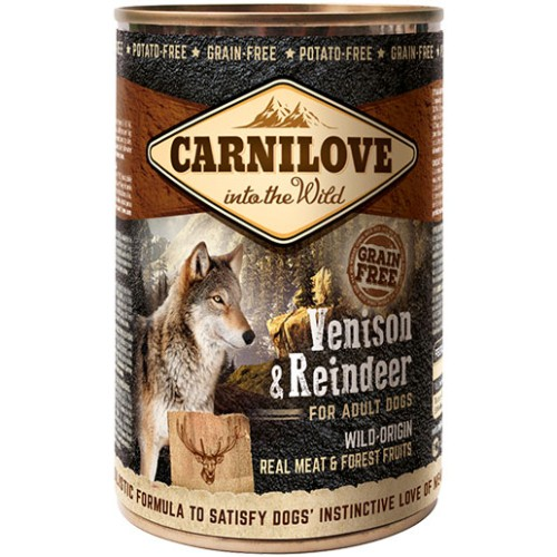 Ολιστικη κονσερβα Carnilove σκυλου Venison Reindeer Grain free