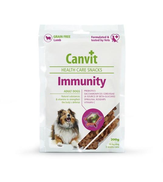 συμπληρωμα διατροφης σνακ Canvit Immunity σκυλου για ενισχυση ανοσοποιητικου