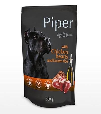 κονσερβα Piper σκυλου καρδια κοτοπουλο και καστανο ρυζι