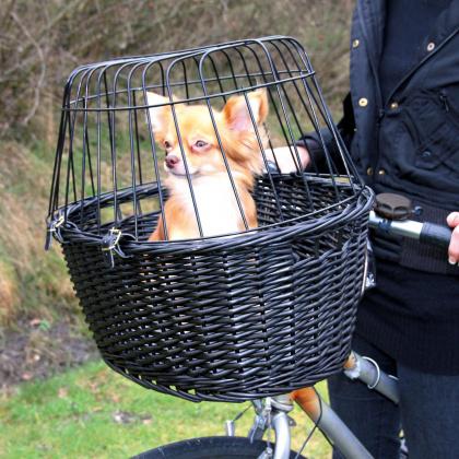 Trixie ψαθινο καλαθι για ποδηλατο μεταφορας για σκυλους
