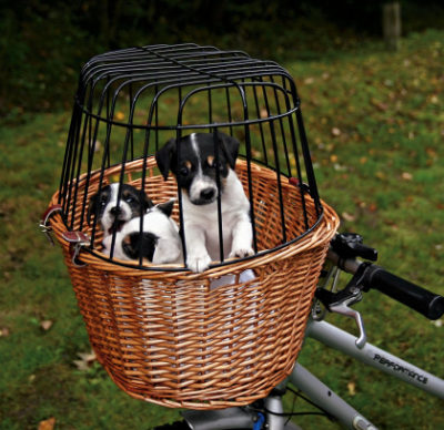 Trixie καλαθι ψαθινο ποδηλατου για μεταφορα σκυλου