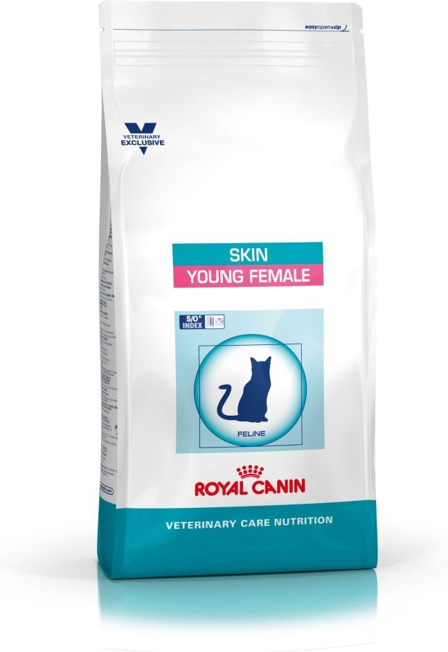 Royal Canin Skin Young Female τροφη στειρωμενης γατας για φροντιδα τριχωματος