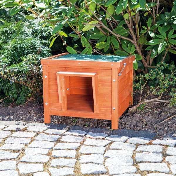 trixie natura ξυλινο σπιτι γατας