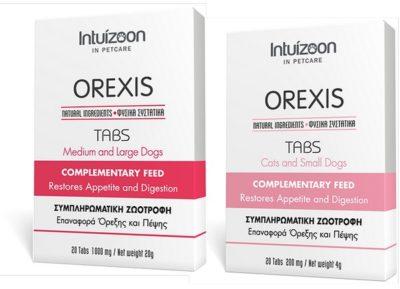 intuizoon OREXIS Συμπληρωμα διατροφης για την επαναφορα της ορεξης σε γατες & σκυλους