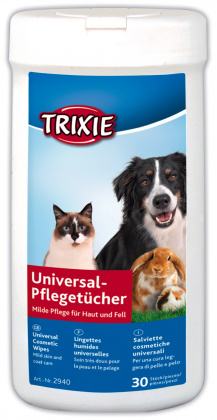 Trixie για καθαρισμο γατας υγρα χαρτομαντηλα για σκυλους
