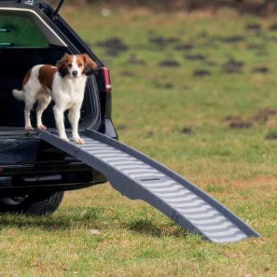 Trixie πτυσσομενη πλαστικη ραμπα σκυλων για αυτοκινητο