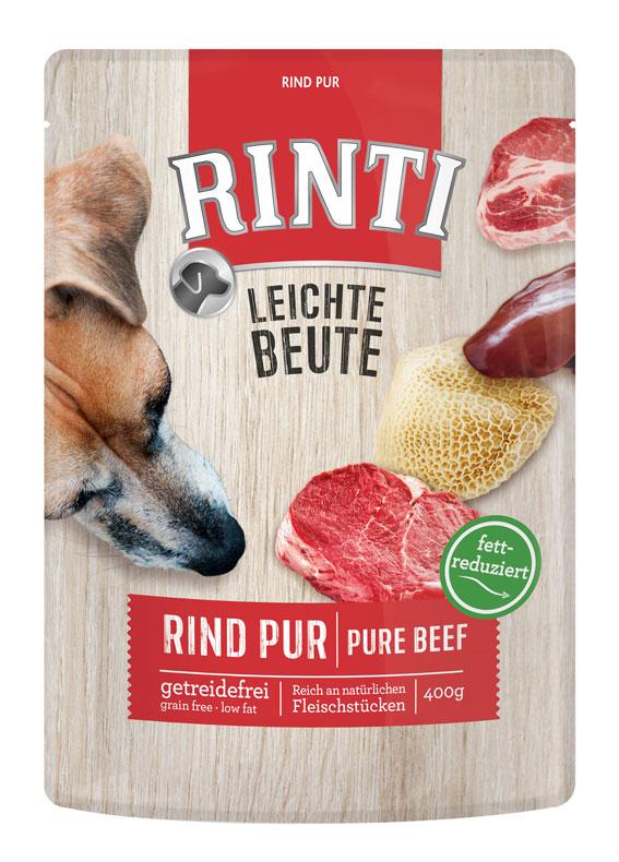 Rinti κονσερβες σκυλων φακελακια Leichte Beute με μοσχαρι με ολοκληρα κομματια κρεας