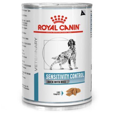 Royal Canin Sensitivity κλινικη διαιτα κονσερβα σκυλου με δυσανεξια παπια ταπιοκα