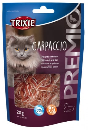 Οι Trixie λιχουδιες γατας σνακ Carpaccio με παπια και ψαρι χωρις ζαχαρη χωρις γλουτενη