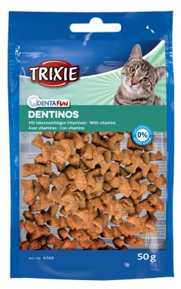 Λιχουδια σνακ για καθαρισμο δοντιων γατας Trixie Dentinos