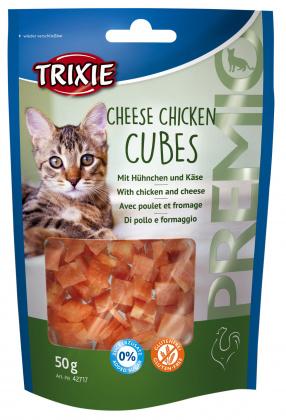 Trixie λιχουδια γατας σνακ Premio Cheese Chicken Cubes με κοτοπουλο & τυρι χωρις ζαχαρη χωρις γλουτενη