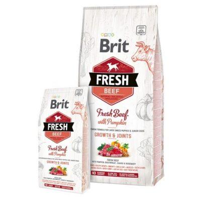 Brit Fresh τροφες σκυλων Beef Pumpkin Puppy Large απο φρεσκο μοσχαρι για υγιη αναπτυξη σκελετου