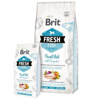 Οιfresh Brit τροφες σκυλων μεγαλων φυλων Fish Pumpkin απο φρεσκο ψαρι για υγιεις αρθρωσεις & σκελετο