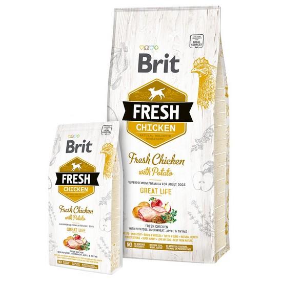 Brit τροφη για ενηλικους σκυλους Fresh Chicken with potato απο φρεσκο κοτοπουλο με πατατα
