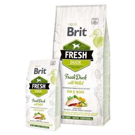 Brit Fresh τροφη ενεργειας για σκυλους Duck with Millet απο φρεσκο κρεας Παπιας με Κεχρι