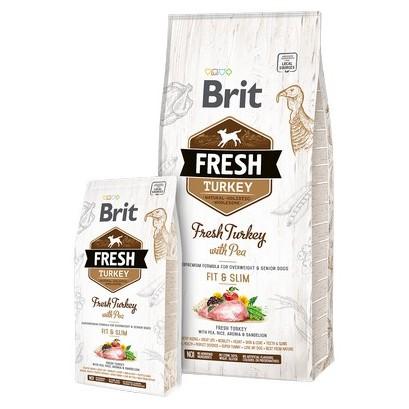 Brit Fresh τροφη σκυλου Turkey with Pea απο φρεσκο κρεας γαλοπουλας αδυνατισμα ηλικιωμενους σκυλους
