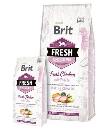 Brit Fresh τροφη για κουταβια Chicken Potato Puppy απο φρεσκο κρεας κοτοπουλου για υγιη αναπτυξη